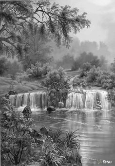 Pencil Drawing Color Coloring for adults - Kleuren voor volwassenen Grayscale Coloring, Colorful Art, Coloring Pictures, Colorful Pictures, Colorful Landscape, Watercolor Landscape, Greyscale, Scenery, Landscape Drawings