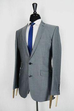 1df18316e Men's Grey A39 Savile Row Slim Fit Suit 42R W38 L31 VB193B #fashion  #clothing
