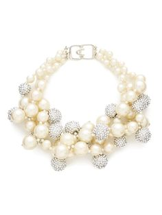 Silver & Pearl Triple Strand Necklace from Not Your Grandmother's Pearls on Gilt