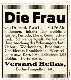 Original-Werbung/ Anzeige 1925 - DIE FRAU / HELLAS - VERLAG / BERLIN - TEMPELHOF - ca. 40 x 45 mm