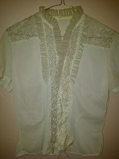 Lovely. Antique Women's Lace and Ruffled Blouse by maggiecastillo on Etsy, $35.48