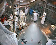 Apollo 1 astronauts entering the Module that will later kill them.... :(