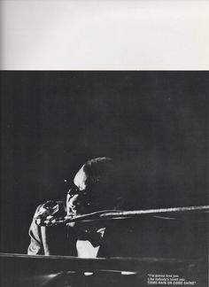Ray Charles at an unidentified concert (c. 1966). From a 1967 concert souvenir brochure.