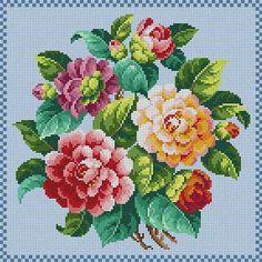 Rose Bouquet Susan Treglown mesh: 14:1 dimension: 12 x 12