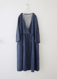 Vlas blomme 카슈쿠루 린넨원피스 코트(블루) Olive Clothing, Diy Clothes, Clothes For Women, Denim Fashion, Womens Fashion, One Piece Dress, How To Look Pretty, Perfect Fit, Duster Coat