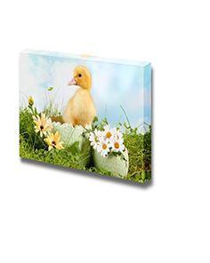 Canvas Prints Wall Art - Peeping Newborn Easter Duckling ... https://www.amazon.com/dp/B00VR7AEYM/ref=cm_sw_r_pi_dp_x_QqX2yb874PNSF