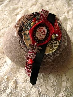 Unique Fabric Brooch  Poppies by Minasmoke on Etsy, $22.70