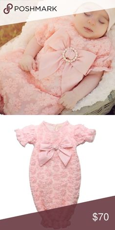 Newborn Photo Gown This is new with tags, never worn. So delicate and of excellent quality. This is the perfect addition to your baby's professional photos. I don't have the hat for sale, just the dress. Dresses Formal