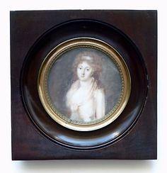 Portrait miniature jeune femme / Vigée Le Brun / Marie-Antoinette / 18ème siècle