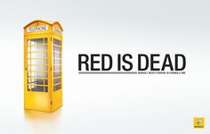 Renault F1: Red is Dead, English Phone Box - love the concept, but we still LOVE our red!