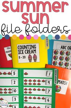 This resource is for use with either students in an early childhood setting such as Pre-K or Kindergarten, or in a special education setting. In my classroom, I use these file folder tasks with my special learners during their structured independent time. These are all tasks that they are able to complete on their own and have already mastered in a 1:1 work setting.