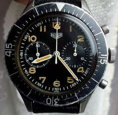 Swiss made Vintage Heuer 1550 Sg Bund military watch
