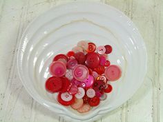 Vintage Variety of Shades of Red Buttons by DivineOrders on Etsy, $7.00
