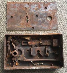"Vintage Brass Door Knobs Handles Mid Century Old Victorian Style /""LEGGE/"""