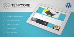 Download and review of Tempcore - Responsive WordPress Theme, one of the best Themeforest Corporative themes