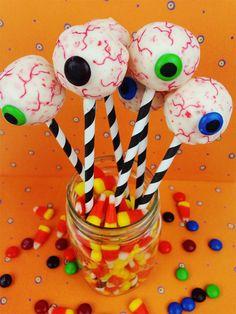 Eyeball Cake Pops from The Southern Couture