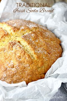 I've tried several recipes for Irish Soda Bread, and this is by far my favorite. It bakes up into such a beautiful loaf that
