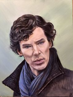 Benedict Cumberbatch as Sherlock oil on canvas painting by AvangArte on Etsy Benedict Cumberbatch, Sherlock, Oil On Canvas, My Arts, Trending Outfits, Painting, Etsy, Vintage, Painting Art