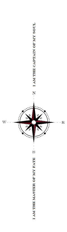 Invictus Compass Tattoo idea I came up with << Adore the invictus poem and omg what a tattoo idea <--- Love love love this!