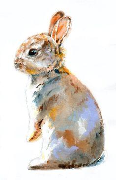 Doll Bunny Watercolor