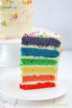 Totr Tęczowy  Rainbow Cake Vanilla Cake, Rainbow, Food, Pies, Rain Bow, Rainbows, Essen, Meals, Yemek