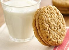 Memory Lane Oatmeal Peanut Butter Creme Sandwiches (use pouch of Betty Crocker Oatmeal cookie mix)
