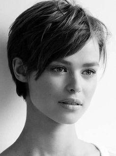Cortes de pelo pixie 2016: El corto también es femenino - Corte pixie con flequillo largo