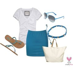 Blue Summer, created by pbmhuck on Polyvore
