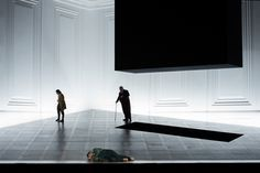 "Salzburger Festspiele, 2015 - ""Fidelio"" - Director: Claus Guth, Set and Costume Designer:Christian Schmidt Christian Schmidt, Set Design Theatre, Stage Design, Black Architecture, Media Design, 3d Design, Stage Show, Design Research, Exhibition"