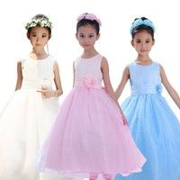 This dress is made of polyester, suit for girls 3T to 12T, and there are 6 colors.
