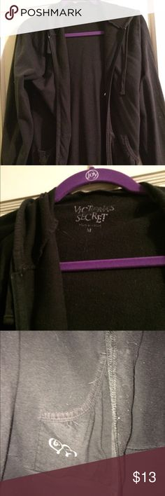 Victoria's Secret lightweight black zip hoodie Worn Victoria's Secret Tops Sweatshirts & Hoodies
