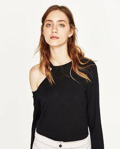 JOIN LIFE CUT OUT T-SHIRT from Zara