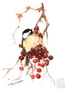 Chickadee 14 Art Print by Suren Nersisyan at Art.com