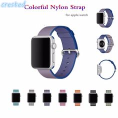 CRESTED Woven Nylon watch band For apple watch band strap 42 wrist braclet Fabric-feel metal bucket belt for iwatch Apple Watch 42mm, Apple Watch Bands, Iwatch 2, Nylons, Bracelet Sport, Watch Accessories, Metal Bracelets, Metal Buckles, Belt