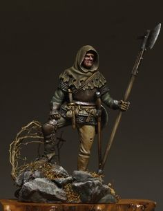 EUROPEAN MERCENARY XV century. Sculpted and painted by Sergey Savenkov.