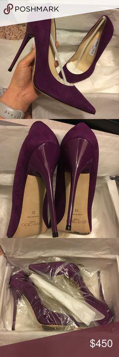 Jimmy Choo Anouk Suede pumps 100% authentic jimmy choo anouk genuine suede pumps. size 39. will fit size 8-8.5 US. super sexy heel. mint condition. worn twice. send in your offers! Jimmy Choo Shoes Heels #jimmychooheelssuede #jimmychooheelspump