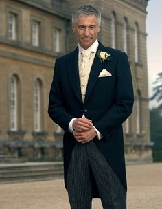 BOBSMen's suits - navy tailcoats with ivory and gold