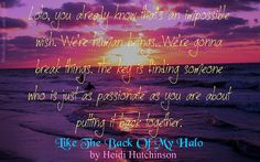 Books,Chocolate and Lipgloss: ❤❤ 5 star review of LIKE THE BACK OF MY HALO by…