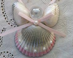 27 - Homemade Seashell Angel Ornament
