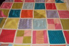 manta de trciô, em patchwork, para bebê