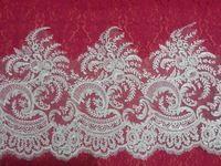 31 см в ширину роскошный урожай с белый сетка вышитые кружевной отделкой французский для свадеб и свадебные платья 5 ярды / lot бесплатная доставка