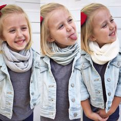 Essential Toddler Infinity scarf set by turbansfortots on Etsy