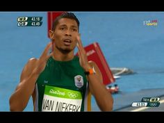 South African Wayde Van Niekerk breaks the World Record and Olympic record in the finishing in seconds (Rio World Records, Wayde Van Niekerk, Olympic Records, Media Specialist, Rio 2016, Olympic Games, Olympics, African