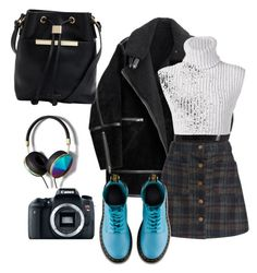 """""""Scotish skirt"""" by chaimasugadollz on Polyvore featuring mode, H&M, Baja East, Eos, Dr. Martens, Ted Baker et Abercrombie & Fitch"""