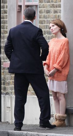 "Tom Hardy and Emily Browning - ""Legend"" Id stare at him like that too if i got that close... no words just :D"