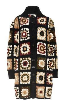Medium rosetta getty multi mixed media granny square cardigan