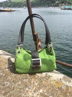 Suede Lime Green 'Shirley' Handbag #Danielli #Dartmouth #Devon #RiverDart #ByTheSea #Photography #SWisBest #Fashion #Style #Boutique #WomensFashion #ShoppingTime #ShoppingAddict