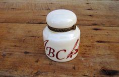 Porcelain China Inkwell Vintage Desk by FrenchMarketFinds on Etsy