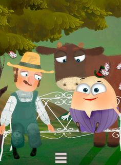 Humpty and Farmer Joe. #Humpty #Dumpty #PonyApps #Fairytale   https://play.google.com/store/apps/details?id=com.ponyapps.humptybook
