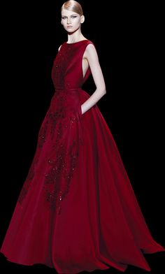 Stunning couture Red gown 2014 Paris